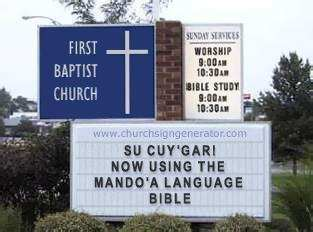 First Mando'a Baptist Church?